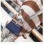 กระเป๋าถือ + สะพายข้าง HERMES mini style น้ำเงิน-ครีม thumbnail 1