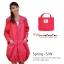 เสื้อกันฝนเนื้อผ้า สีชมพูแดง thumbnail 1