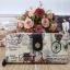กระเป๋าสตางค์ Chalita wu สีครีม ลายจักรยาน thumbnail 1