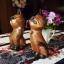 ตุ๊กตาไม้แกะสลักแมวไทยคู่ นั่งชูคอ thumbnail 2