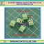5x SCREW TERMINAL BLOCK 2 PINS Pitch 3.5 mm 300V/10A GREEN COLOR thumbnail 1