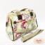 กระเป๋า + สะพาย 2 ซิป 13 นิ้ว สีเขียว ลายดอกไม้ thumbnail 3