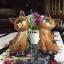 ตุ๊กตาไม้แกะสลักแมวไทยคู่ นั่งชูคอ thumbnail 4