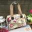 กระเป๋า + สะพาย 2 ซิป 13 นิ้ว สีเขียว ลายดอกไม้ thumbnail 1