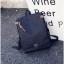กระเป๋าเป้ Pocket Flap style สีดำ thumbnail 7