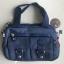 กระเป๋าเนื้อ kipling + สะพาย ใบเล็ก สีกรม thumbnail 2