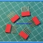 5x Red Color Female Pin Header 6 Pins Pitch 2.54mm (Long Pin) thumbnail 2