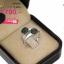 แหวนเงิน ประดับเพชร CZ แหวนทรงกลมไขว้กัน ฝังเพชรกลมดำ ก้านแหวนเรียวเล็ก ดูสวยหรูแต่ไม่เรียบจนเกินไป ใส่ได้เรื่อยๆ ออกงานก็ได้ thumbnail 2