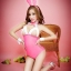 Pre Order / ชุดกระต่ายพร้อมหู สีชมพู thumbnail 1