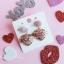 เลือกสีด้านในค่ะ ต่างหู Lux Velvet Heart Korea ER4512 thumbnail 11