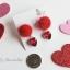 เลือกสีด้านในค่ะ ต่างหู Jewel Heart PomPom Korea ER9063 thumbnail 9