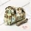 กระเป๋าทรงหมอน Chalita wu + สายสะพาย สีเหลือง ลายนกฮูก thumbnail 2