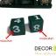 ปฏิทินไม้แกะสลักรูปนกฮูกคู่ (ไซส์ M) สีเขียว แบบ B thumbnail 5