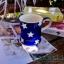 แก้วมักเซรามิกสีน้ำเงินลายดาว thumbnail 1