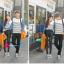 เสื้อคู่ เสื้อคู่รัก ชุดคู่รัก เสื้อคู่รักแขนยาวเกาหลี ผู้หญิง + ผู้ชาย เสื้อยืดกึ่งเสื้อเชิ้ตแขนยาว สีขาวลายเส้นขวางสีดำ แขนเสื้อผ้ายีนส์นิ่มดีไซน์แบบแขนเสื้อเชิ้ต thumbnail 8