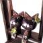 ตุ๊กตาไม้แมวคู่บนชิงช้า แบบ C thumbnail 3