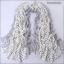 ผ้าพันคอผ้าฝ้าย สีขาวดำลายจุด ( รหัส P293 ) thumbnail 1