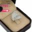 แหวนทองคำขาว ประดับเพชร CZ แหวนทรงใบไม้ ฝังเพชรกลมขาวแบบเต็มใบ ก้านแหวนเรียวเล็ก ดีไซน์สุดเนี้ยบ และมีมนต์สเน่ห์น่าจับจอง thumbnail 2