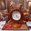"""นาฬิกาไม้สักตั้งโต๊ะ DCL ขนาด 8"""" thumbnail 2"""