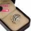แหวนเงิน ประดับเพชร CZ แหวนปลากระเบน ฝังเพชรกลมขาวและเพชรกลมดำ ดีไซน์เก๋มีมิติ สวยอย่างเป็นธรรมชาติ thumbnail 2