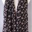 ผ้าพันคอผ้าชีฟองสีดำ ตัวอักษรABCสีชมพู thumbnail 1