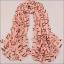 ผ้าพันคอผ้าชีฟองสีชมพู ลายตัวอักษร thumbnail 2