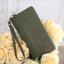 กระเป๋าสตางค์ หนังกลับ สี Olive green (เขียวขี้ม้า) thumbnail 2