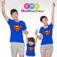 เสื้อครอบครัว ชุดครอบครัว เสื้อ พ่อ แม่ ลูก ลาย ซุปเปอร์แมน ผลิตจากผ้าคอตตอน 100% thumbnail 1