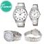 นาฬิกาคู่ชายหญิง นาฬิกาข้อมือ คู่ ชายและหญิง นาฬิกาข้อมือคู่ (Pair Watch) Couple Watches Set นาฬิกาคู่ ยี่ห้อ CASIO เรือนเงิน หน้าปัดขาว รุ่น 1303D-7B thumbnail 3