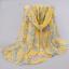 ผ้าพันคอชีฟอง สีเหลืองลายโซ่ thumbnail 1