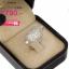 แหวนเพชร ประดับ เพชรCZ แหวนทรงหัวใจ สไตล์หรูหรา ใส่แล้วสวยเริ้ดเลยครบสมบูรณ์ได้ในวงเดียว ดีไซน์อ่อนช้อยมีมิติ thumbnail 2