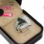 แหวนทองคำขาว ประดับเพชร CZ แหวนทรงใบโพธิ 2 ใบดีไซน์เก๋ไก๋ฝังเพชรกลมดำสลับเพชรกลมขาว เพิ่มดีเทลช่วงบ่าฝังเพชรกลมขาวประดับ เก๋สุดๆ ใส่ออกมาเต็มนิ้ว งานละเอียดเนี๊ยบมาก thumbnail 2