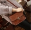 กระเป๋า สะพายข้าง ทรง vintage สีน้ำตาลเข้ม thumbnail 1
