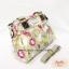 กระเป๋า Chalita wu + สายสะพาย สีเขียว ลายดอกไม้ thumbnail 2