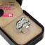 แหวนเงิน ประดับเพชร CZ แหวนลายเส้นดัดเป็นวงกลม 6 วงฝังเพชรกลมขาว เพิ่มดีเทลหน้าแหวน ลายเส้นดัดวงกลม 2 วง ฝังเพชรกลมดำ ดีไซน์เก่ดูแปลกตา thumbnail 2