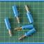 5x Male Banana Plug 4mm Connector Blue Color thumbnail 2
