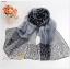 ผ้าพันคอชีฟอง เสือดาวสีดำ ( รหัส P50 ) thumbnail 1