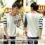 เสื้อคู่ เสื้อคู่รัก ชุดพรีเวดดิ้ง ชุดคู่รัก เสื้อคู่รักเกาหลี เสื้อผ้าแฟชั่น ผู้ชาย + ผู้หญิง เสื้อแขนยาวสีขาว ตัดด้วยแขนเสื้อลายฟ้าขาว ผลิตจากผ้าฝ้าย เนื้อนิ่ม หนา ใส่ สบาย งานจริงสวยๆมากค่ะ thumbnail 6