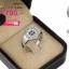 แหวนเงิน ประดับเพชร CZ แหวนทรงหกเหลี่ยมหน้าแหวนฝังเพชรกลมดำ 4 เม็ด ล้อมรอบด้วยเพชรกลมขาว เติมลุคสาวๆให้มั่นใจ thumbnail 2