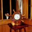 """นาฬิกาไม้สักตั้งโต๊ะ DCL ขนาด 8"""" thumbnail 8"""