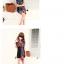 ผ้าพันคอชีฟอง สีน้ำเงินเข้ม ( รหัส P9 ) thumbnail 3