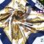 ผ้าพันคอผ้าซาติน ลายอลังกรณ์สีน้ำเงิน thumbnail 1