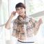 ผ้าพันคอผ้าชีฟอง ลายแคชเมียร์สีเขียว thumbnail 1