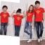 เสื้อครอบครัว ชุดครอบครัว เสื้อ พ่อ แม่ ลูก ลาย ซุปเปอร์แมน ผลิตจากผ้าคอตตอน 100% thumbnail 4