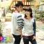 เสื้อคู่ เสื้อคู่รัก ชุดพรีเวดดิ้ง ชุดคู่รัก เสื้อคู่รักเกาหลี เสื้อผ้าแฟชั่น ผู้ชาย + ผู้หญิง เสื้อแขนยาวสีขาว ตัดด้วยแขนเสื้อลายฟ้าขาว ผลิตจากผ้าฝ้าย เนื้อนิ่ม หนา ใส่ สบาย งานจริงสวยๆมากค่ะ thumbnail 5