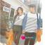 เสื้อคู่ เสื้อคู่รัก ชุดคู่รัก เสื้อคู่รักแขนยาวเกาหลี ผู้หญิง + ผู้ชาย เสื้อยืดกึ่งเสื้อเชิ้ตแขนยาว สีขาวลายเส้นขวางสีดำ แขนเสื้อผ้ายีนส์นิ่มดีไซน์แบบแขนเสื้อเชิ้ต thumbnail 3