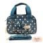 กระเป๋า Chalita wu + สะพาย สีฟ้า ลายจุด thumbnail 1