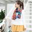 ผ้าพันคอชีฟอง สีน้ำเงินเข้ม ( รหัส P9 ) thumbnail 1