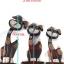 ตุ๊กตาไม้แกะสลัก กระต่ายแสนกล แบล็คกี้ (เซ็ท 3 ตัว) thumbnail 8