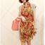 ผ้าพันคอชีฟอง สีส้ม ( รหัส P8 ) thumbnail 2